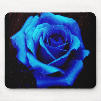 Dramatic Blue Rose Mouse Pad