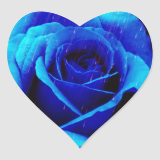 Dramatic Blue Rose Stickers