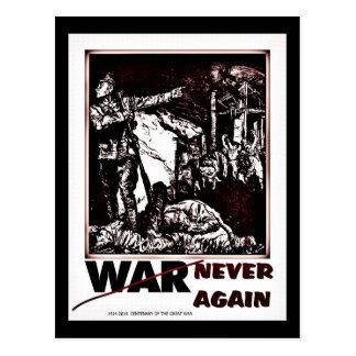 Dramatic centenary World War I never again Postcard