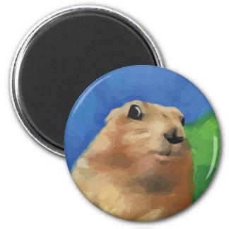 Dramatic Chipmunk 2 Inch Round Magnet