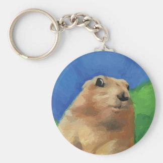 Dramatic Chipmunk Basic Round Button Keychain
