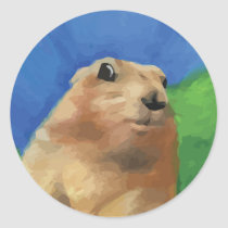 Dramatic Chipmunk Classic Round Sticker