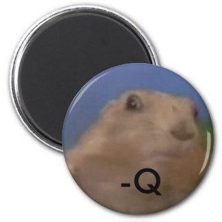 Dramatic chipmunk - q 2 inch round magnet