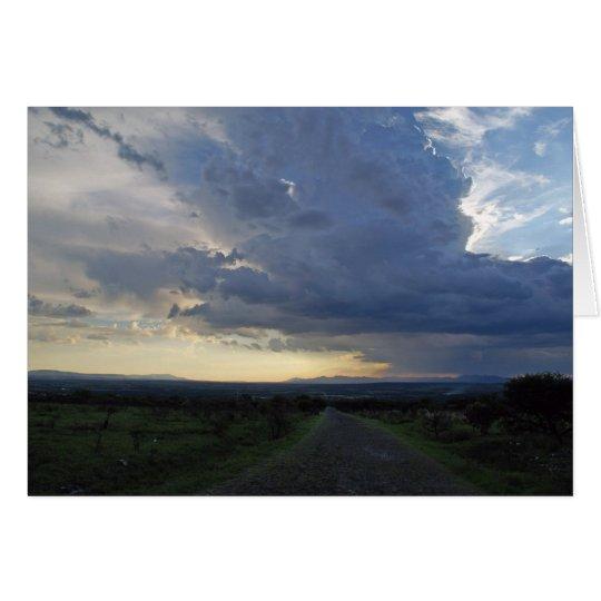Dramatic Clouds Near San Miguel de Allende Card