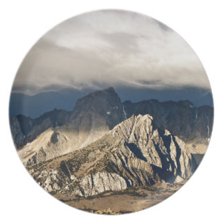 DRAMATIC CLOUDS OVER SIERRA NEVADA LANDSCAPE PARTY PLATE