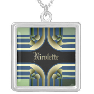 Dramatic! Colorful Abstract Silver Plated Necklace