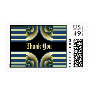 Dramatic! Colorful Abstract - Thank You Postage