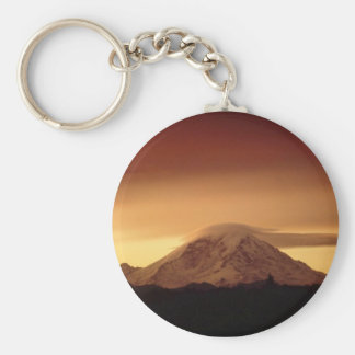Dramatic Copper Mountain Basic Round Button Keychain
