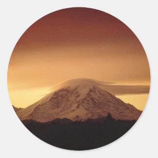 Dramatic Copper Mountain Classic Round Sticker