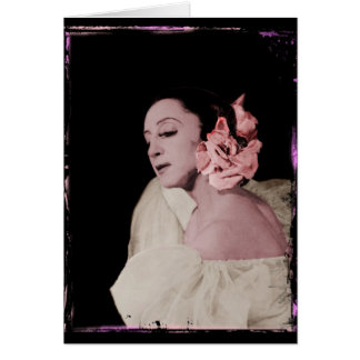 Dramatic Dancer with Flower Card