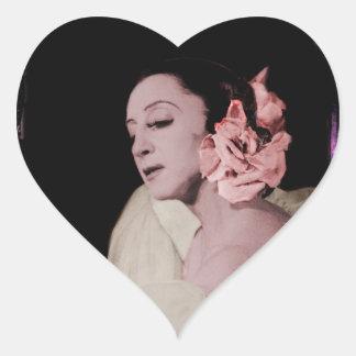 Dramatic Dancer with Flower Heart Sticker