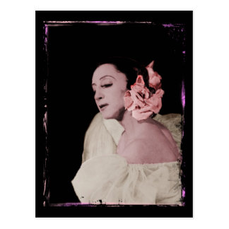 Dramatic Dancer with Flower Postcard