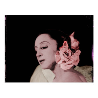 Dramatic Dancer with Flower Postcard
