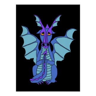 dramatic dragon poster posters