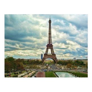 Dramatic Eiffel tower Post Card