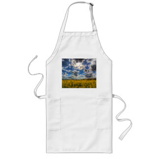 Dramatic Farm Sky Long Apron