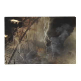 Dramatic Ferris Wheel Falls in a Lightning Storm Placemat