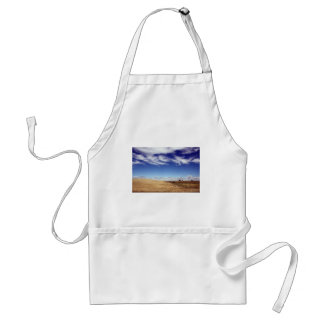 dramatic fields and sky adult apron