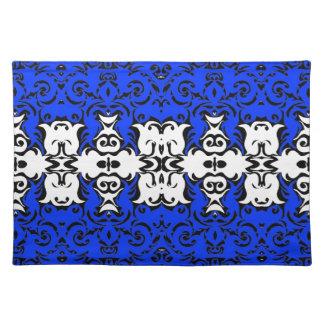 Dramatic Graphic Art Design Damask Fabric Print Place Mat