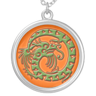 Dramatic Green Dragon Necklace