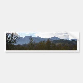 Dramatic Hills And Sky Car Bumper Sticker