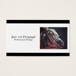 Dramatic Horse Business Card