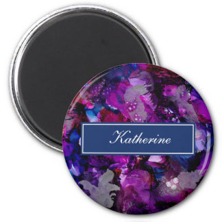 Dramatic Inks Abstract Purple Magnet