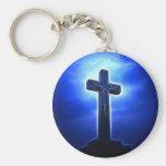 Dramatic Jesus Crucifixion Basic Round Button Keychain