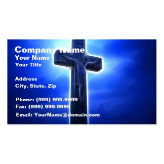 Dramatic Jesus Crucifixion Business Card Template