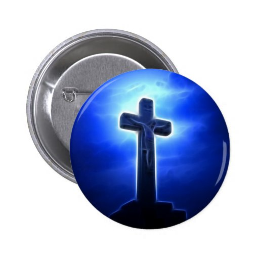 Dramatic Jesus Crucifixion Button