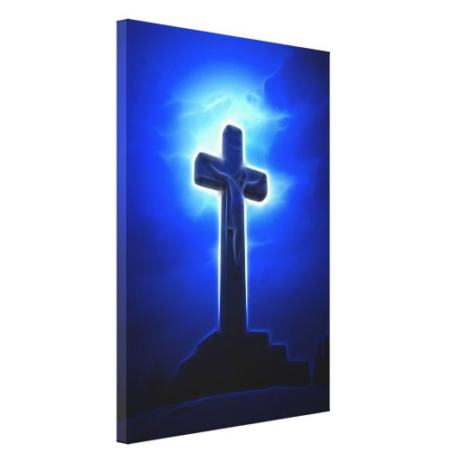 Dramatic Jesus Crucifixion Canvas Print