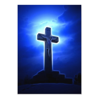 Dramatic Jesus Crucifixion 5x7 Paper Invitation Card