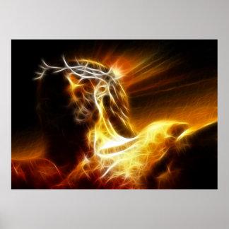 Dramatic Jesus Crucifixion Poster