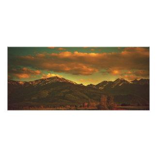 Dramatic landscape full color rack card