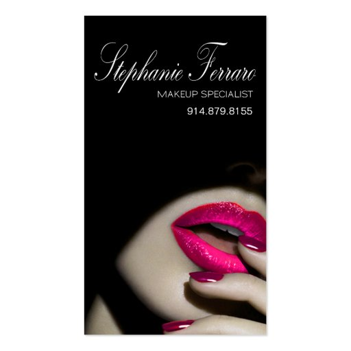 Dramatic Lips Makeup Artist | cerise Business Card