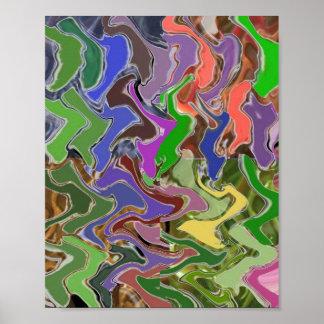 Dramatic Multicolor Wave  : Cosmos Galaxy Infinity Poster