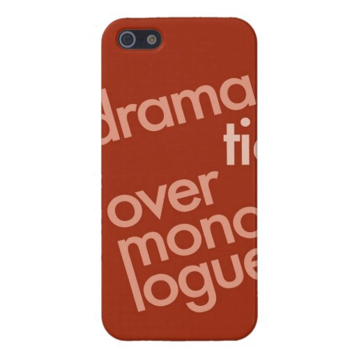 """""""Dramatic Over Monologue"""" iPhone 5 Cover"""