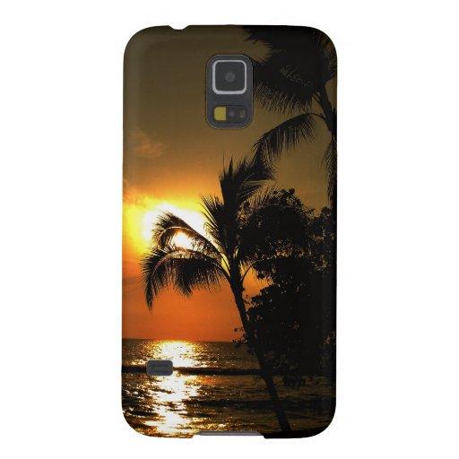 Dramatic Palm Tree Beach Sunset Galaxy Nexus Cases