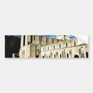 Dramatic Picture Of Fountains Abbey Right Before S Car Bumper Sticker