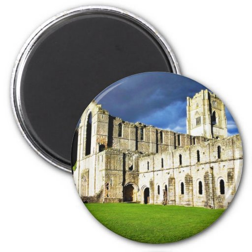 Dramatic Picture Of Fountains Abbey Right Before S Refrigerator Magnet