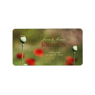 Dramatic Poppy Field Custom Address Label