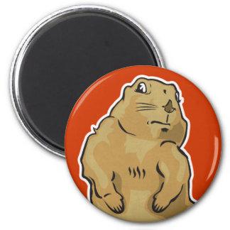 Dramatic Prairie Dog 2 Inch Round Magnet