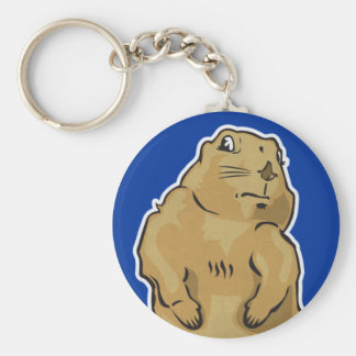 Dramatic Prairie Dog Keychain