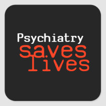 Dramatic Pro-Psychiatry Sticker (Square)
