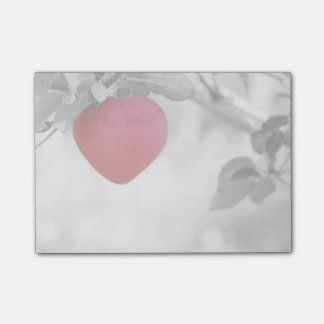 Dramatic Red Heart Shaped Apple Post-it Notes