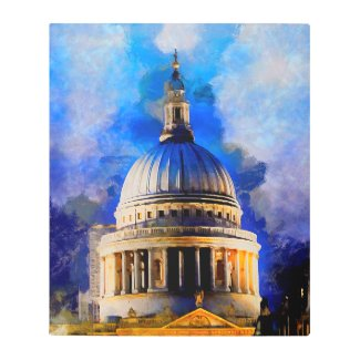 Dramatic Saint Pauls Cathedral Dome Metal Art