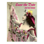 Dramatic Save the Date Postcard