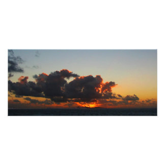 Dramatic Sea Sky at Dawn Personalized Rack Card