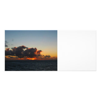 Dramatic Sea Sky at Dawn Rack Card Template