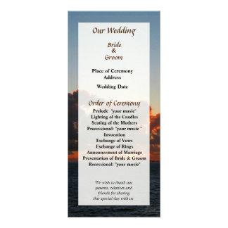 Dramatic Sea Sky at Dawn Wedding Program Rack Card Design